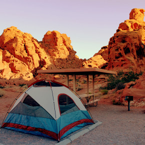 Camping at Valley of Fire, Nevada